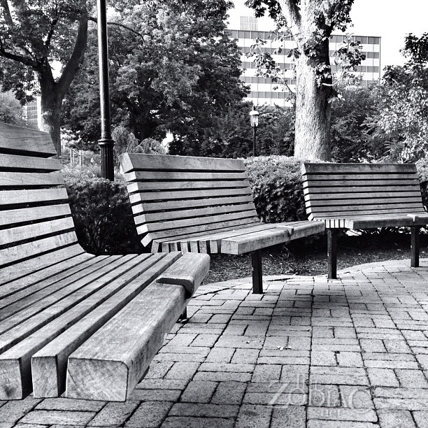 Park Benches in #Morristown, #NJ